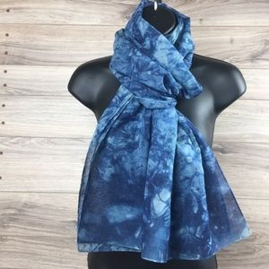 Accessories - Marble Dye natural fiber scarf